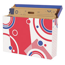 TREND File 'n Save Bulletin Board Storage Box, Bright Stars (27-3/4 x 19 x 7-1/4)