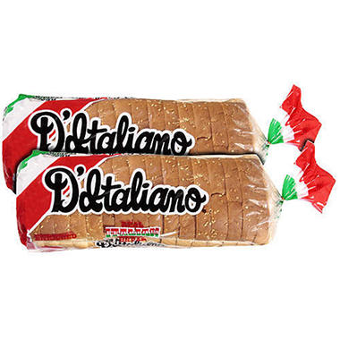D'Italiano Real Italian Sandwich Bread (16 oz., 2 ct.)