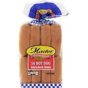 Master Hot Dog Buns (16 ct.)