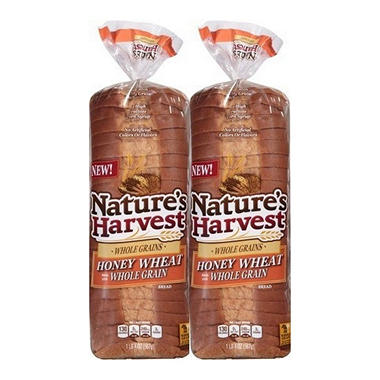 Nature's Harvest Honey Wheat Bread (20 oz., 2 pk.)