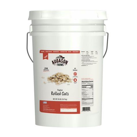 Augason Farms Regular Rolled Oats (20 lb. pail)