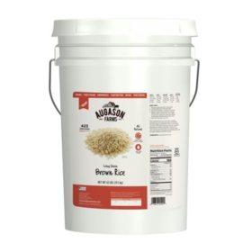 Augason Farms Long Grain Brown Rice (42 lb. pail)