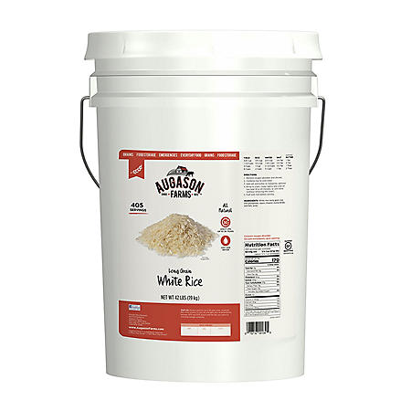 Augason Farms Long Grain White Rice (42 lb. pail)