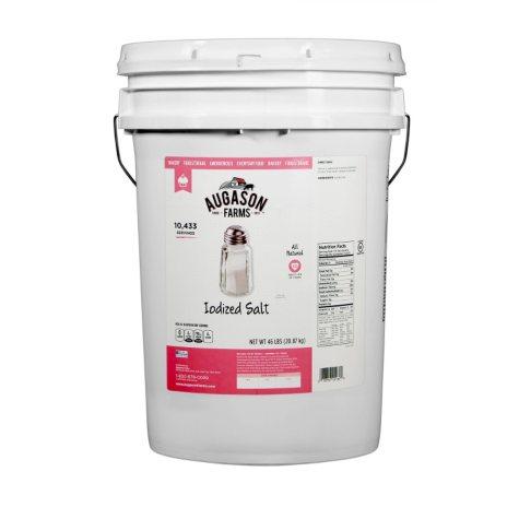 Augason Farms Iodized Salt (46 lb. pail)