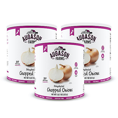 Augason Farms Dehydrated Chopped Onions (23 oz., 3 pk.)