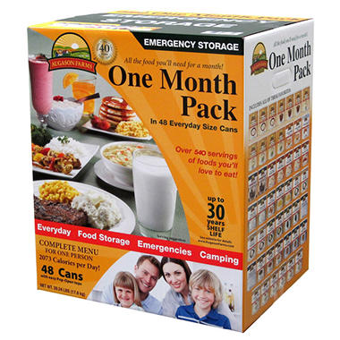 Augason Farms Emergency Food Storage Kit (30 day, 1 person)