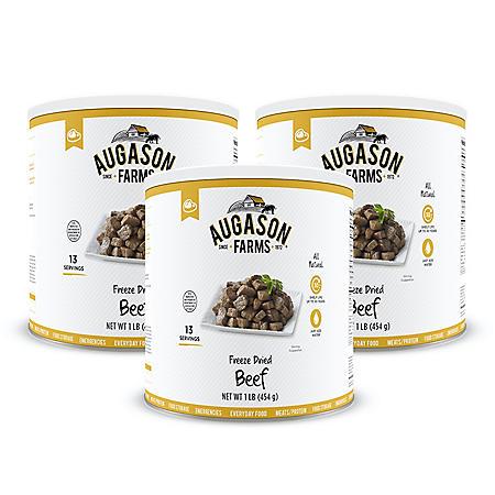 Augason Farms Freeze-Dried Beef Chunks (16 oz., 3 pk.)