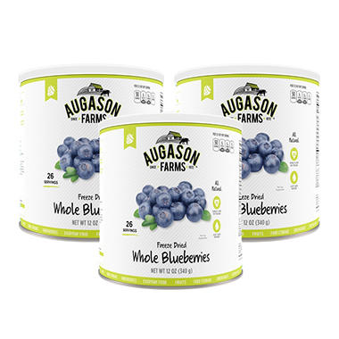 Augason Farms Freeze-Dried Whole Blueberries (12 oz., 3 pk.)