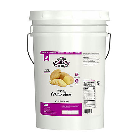Augason Farms Dehydrated Potato Slices (10 lb. pail)