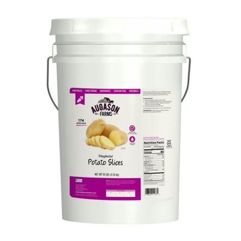 Augason Farms Dehydrated Potato Slices (10 lb. pail)