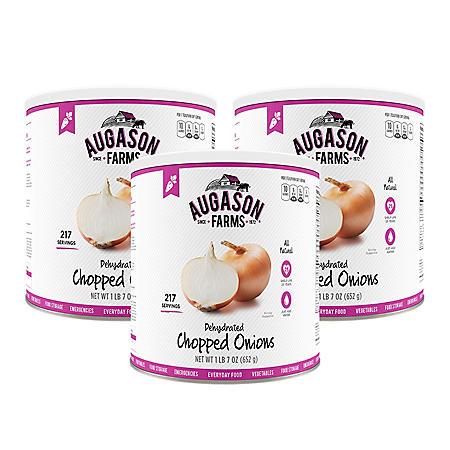 Augason Farms Dehydrated Chopped Onions (23 oz., 3 pk.)