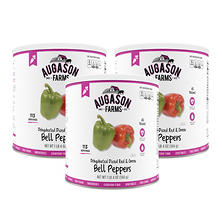 Augason Farms Diced Red & Green Bell Peppers (20 oz., 3 pk.)