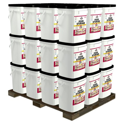 Augason Farms Deluxe Emergency Food Supply Pails (1 person, 3 years)