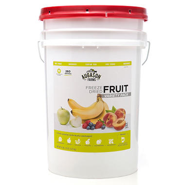 Augason Farms Freeze-Dried Fruit Variety Pail (4 lb., 2 oz.)