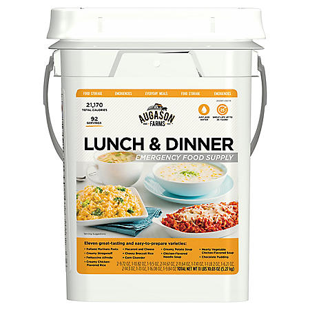 Augason Farms Lunch and Dinner Variety Emergency Food Supply 4-Gallon Pail