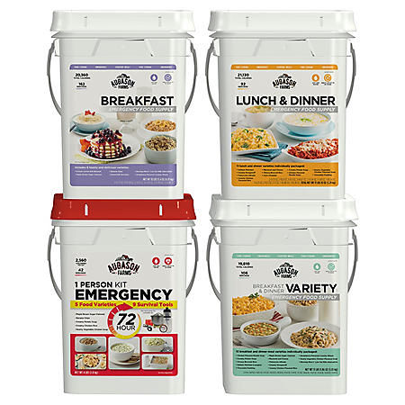 Augason Farms Emergency Food Supply (4 People, 1 Week)