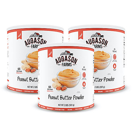 Augason Farms Dehydrated Peanut Butter Powder (#10 can, 3 pk.)