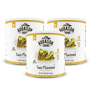 Augason Farms Taco-Flavored Vegetarian Meat Substitute (#10 can, 3 ct.)