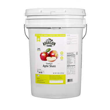 Augason Farms Dehydrated Apple Slices (9 lb. pail)