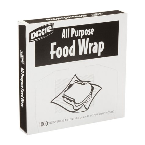 "Dixie All Purpose Food Wrap, 12"" x 12"" (1,000 Sheets)"