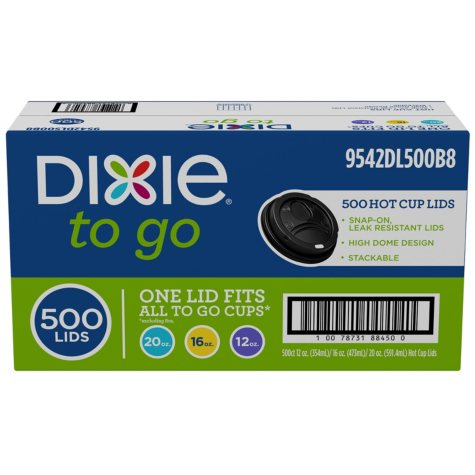 Dixie PerfecTouch Domed Hot Cup Plastic Lids, Fits 12 oz./16 oz. (500 ct.)
