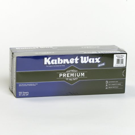 """Dixie - Kabnet Wax - Dry Wax Paper - Premium Heavy Weight - 15"""" X 10 3/4"""" - 2 Packs - 1,000 Total Sheets"""