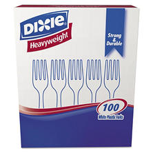 Dixie Plastic Cutlery, Heavyweight Forks (White, 100 per Box) ( 1,000 ct.)