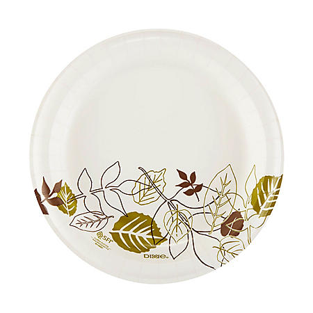 "Dixie Paper Plates, Medium Weight, 8 1/2"", 1000 ct (UX9PATH)"