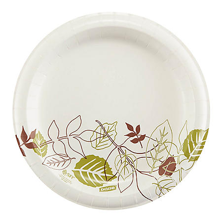 "Dixie Paper Plates by GP PRO, Medium Weight, 8.5"", 600 ct (UX9PATHPB)"