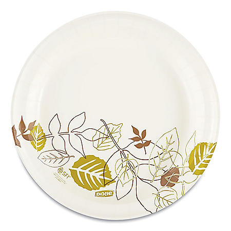 "Dixie Paper Plates, Medium Weight, 8 1/2"", 500 ct (UX9WS)"