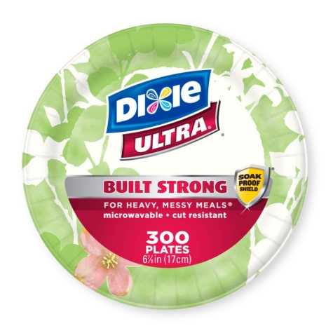 """Dixie Ultra 6 7/8"""" Heavyweight Paper Plates (300 ct.)"""