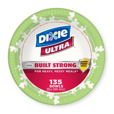 Dixie Ultra Paper Bowls (20oz.,135 ct.)