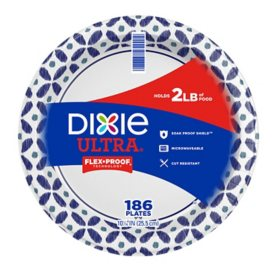 "Dixie Ultra Paper Plates, Heavyweight, 10 1/16"" (186 ct.)"