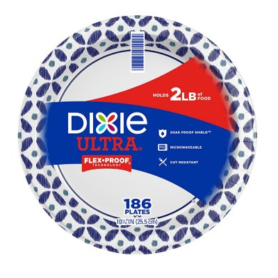 Dixie Ultra Paper Plates Heavyweight 10 1/16  (186 ...  sc 1 st  Samu0027s Club : strong paper plates - pezcame.com