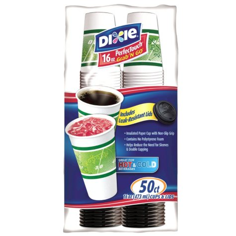 Dixie - PerfecTouch Grab'N Go Cups & Lids - 16 oz. - 50 ct.