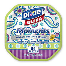 "Dixie Ultra Moments Paper Plates (10"", 64 ct.)"