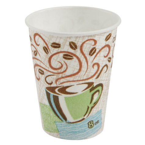 Dixie PerfecTouch Insulated Paper Cups, Coffee Haze (Various Sizes)