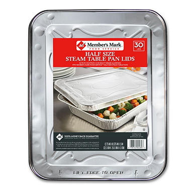 Member's Mark Aluminum Steam Table Lids, Half Size (30ct.)