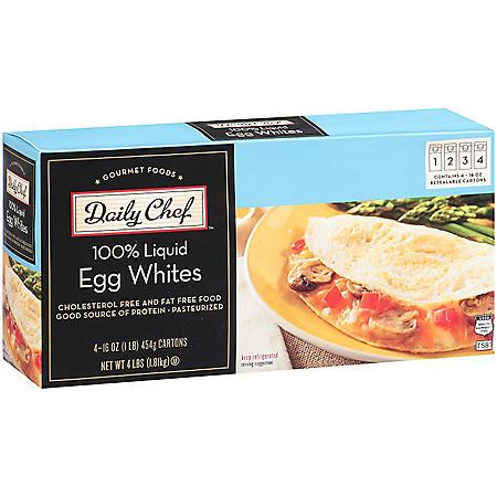 Daily Chef 100% Liquid Egg Whites - 16 oz. - 4 ct.