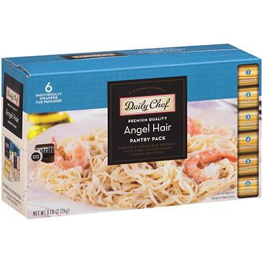 Daily Chef Angel Hair Pantry Pack 1 Lb Pk 6 Ct Sam S Club