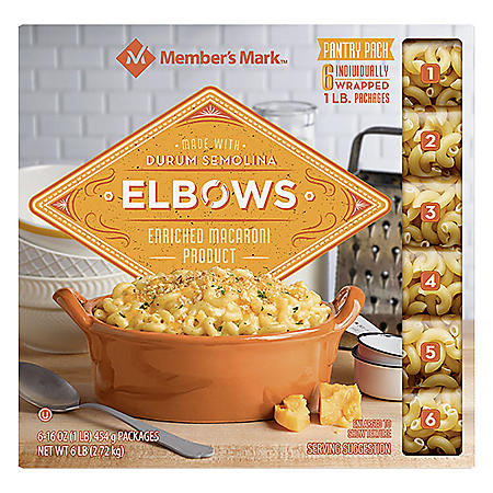 Member's Mark Elbow Macaroni Pantry Pack (1 lb., 6 ct.)