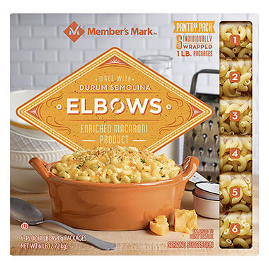 Daily Chef™ Elbow Macaroni Pantry Pack - 1 lb. - 6 ct.