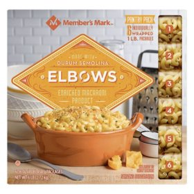 Member's Mark Elbow Macaroni Pantry Pack (1 lb. bag, 6 ct.)