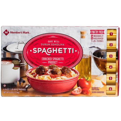 Member's Mark Spaghetti Pantry Pack (1 lb., 6 ct.)