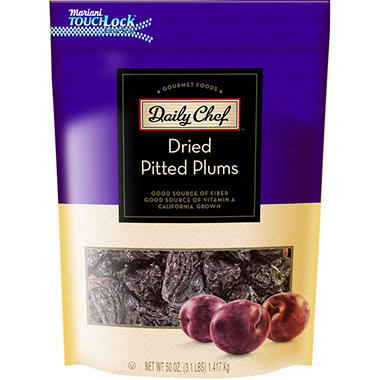 Daily Chef Dried California Pitted Prunes - 50 oz.