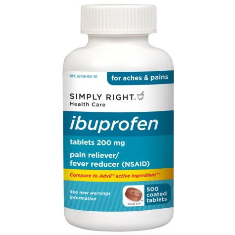 Simply Right Ibuprofen Tablets - 2 / 500 ct.