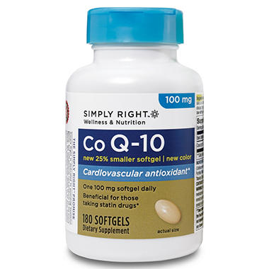 Simply Right Co Q-10 100mg Softgels (180 ct.)