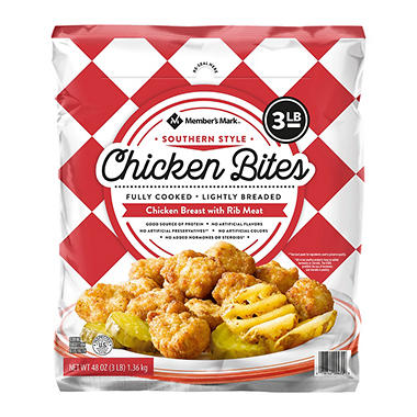 Members Mark Southern Style Chicken Bites 3 Lbs Sams Club