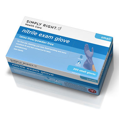 Simply Right Nitrile Gloves, Small (200 ct.)