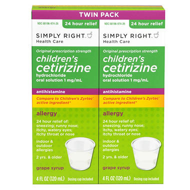 Simply Right Child Cetirizine - 2 / 4 oz.